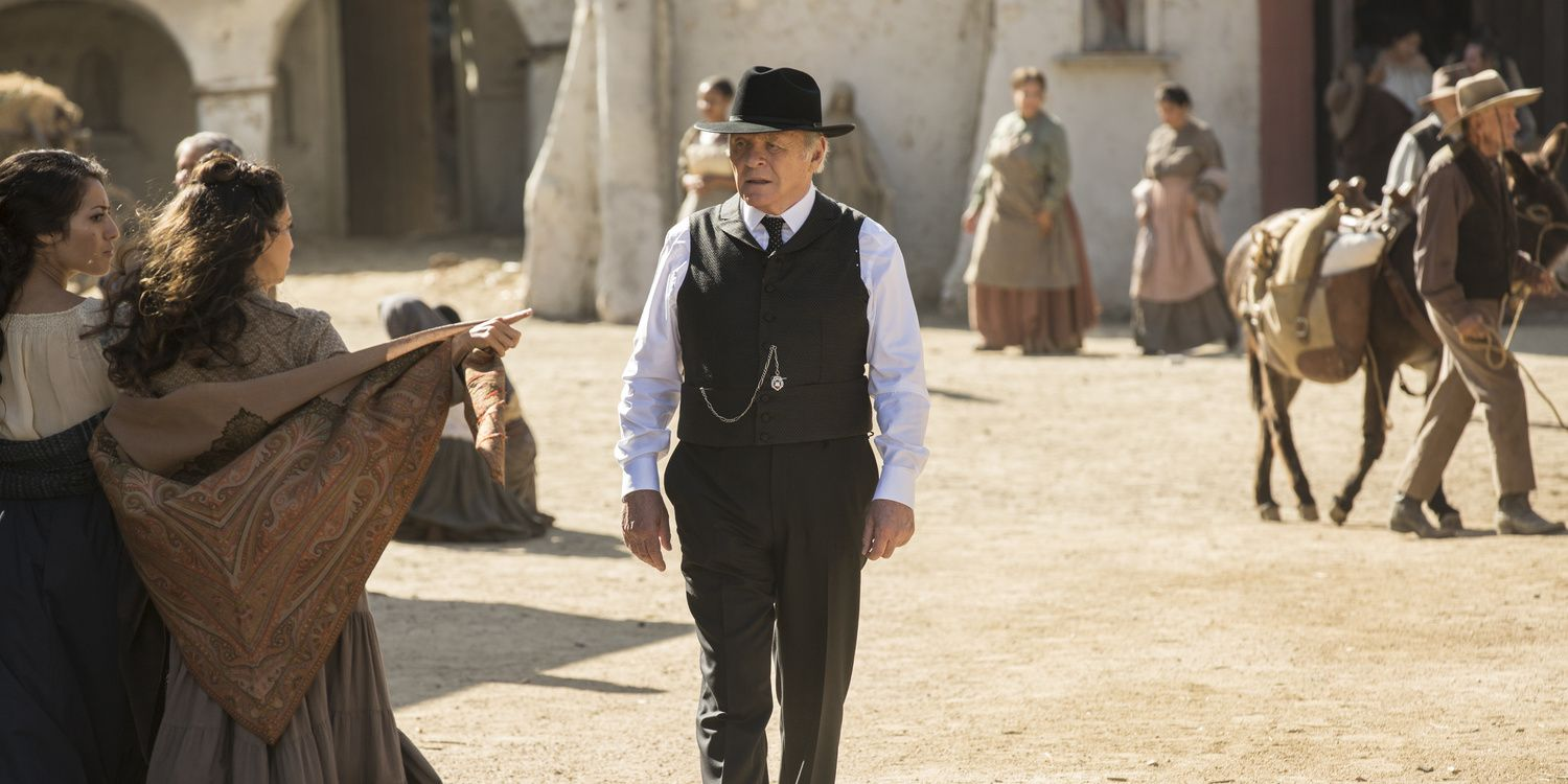 Anthony Hopkins as Dr. Ford in Westworld s01e06