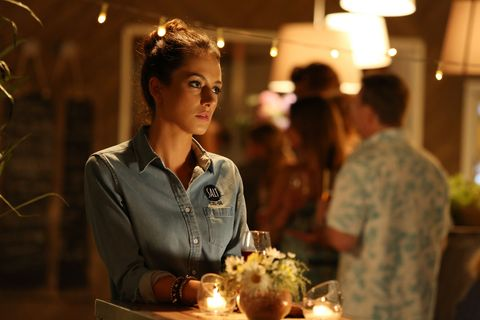 Phoebe Nicholson takes some time to think about what to do in Home and Away