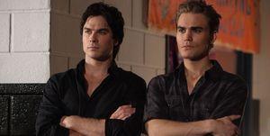 Ian Somerhalder as Damon and Paul Wesley as Stefan in The Vampire Diaries