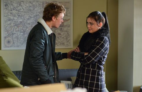 Whitney Dean confides in Johnny Carter about Lee in EastEnders