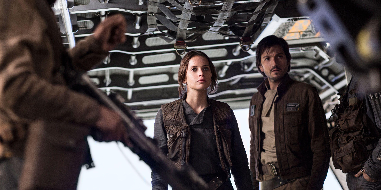 Star Wars, Rogue One, Felicity Jones as Jyn Erso, Diego Luna as Cassian Andor
