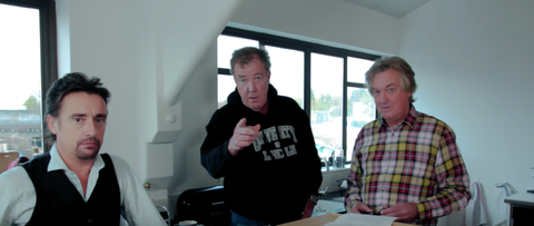 Jeremy Clarkson, Richard Hammond, James May, The Grand Tour - WHY IS THIS IMAGE SO BADLY FRAMED?