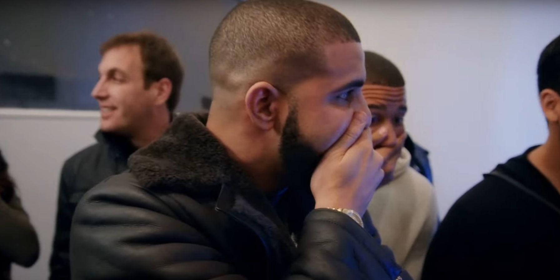 Drake reaction to David Blaine frog trick