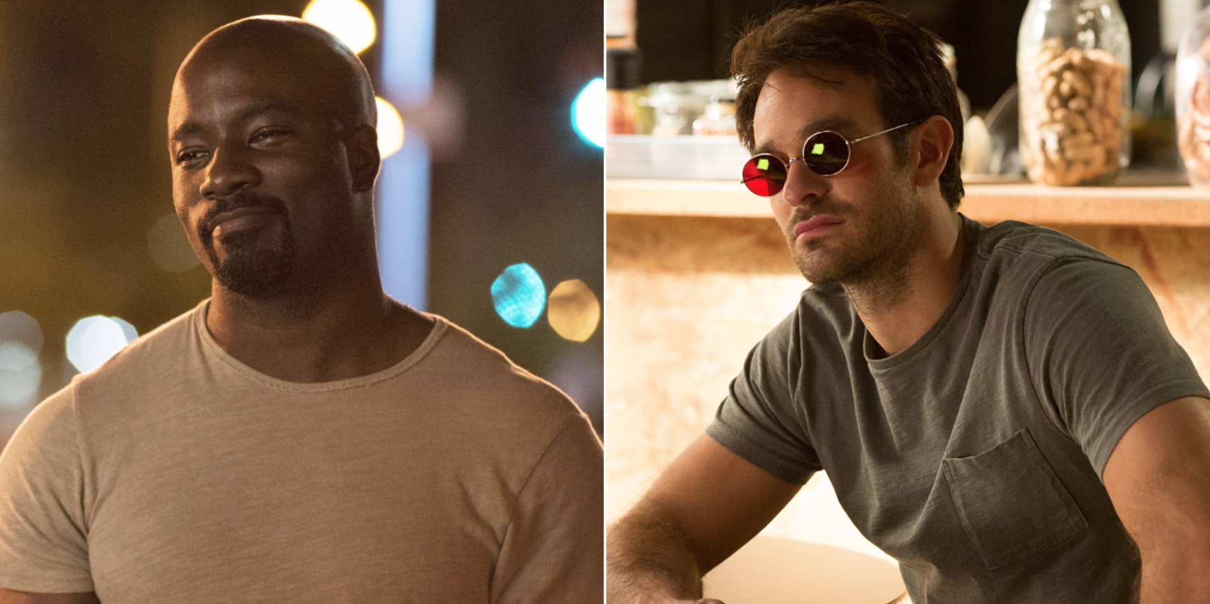 Luke Cage (Mike Colter) and Matt Murdock (Charlie Cox) in Marvel's Netflix shows