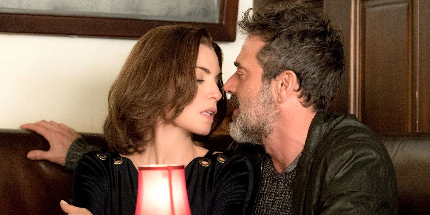Alicia (Juliana Margulies) and Jason (Jeffrey Dean Morgan) on 'The Good Wife'