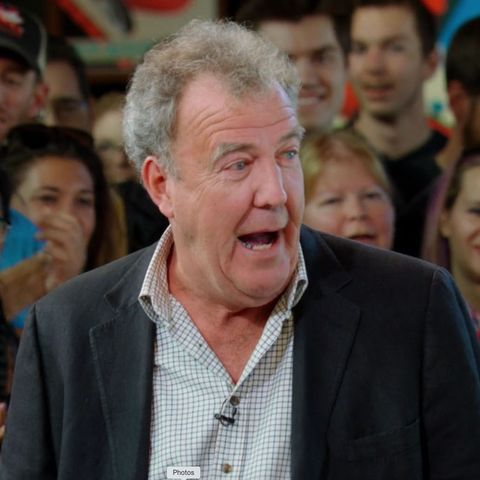 The Grand Tour's Jeremy Clarkson appears to be piloting a helicopter while filming for season 4