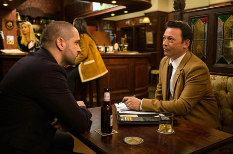 Aidan Connor meets up with a hotshot solicitor to help Maria in Coronation Street