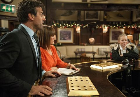 EMBARGO 26/11/2016 Rhona is proud of Pierce when he doesn't rise to Liv's taunting