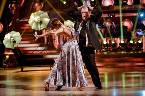 Strictly Come Dancing Ed Balls Strikes A Pose And Possibly Cracks