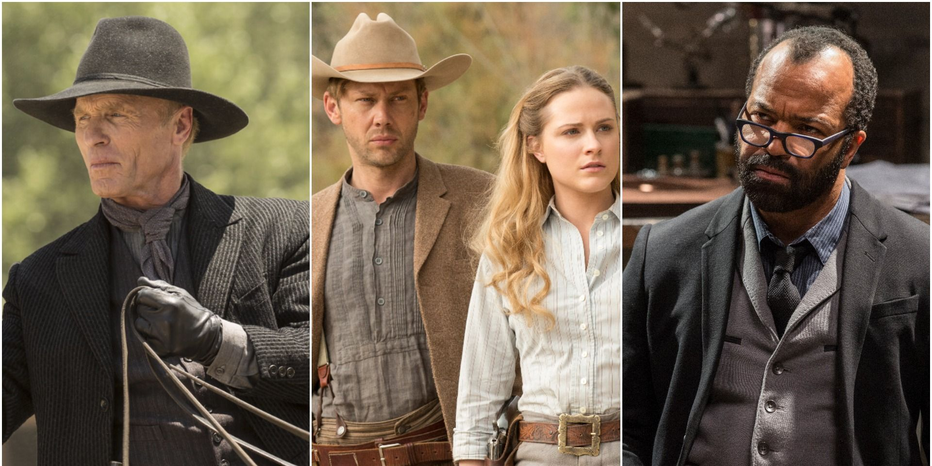 The Man in Black, William, Dolores and Bernard - from HBO's 'Westworld'