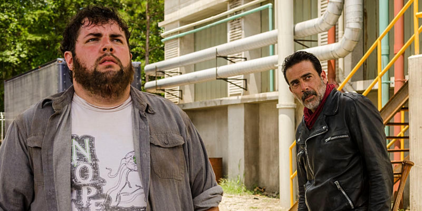 Fat Joey and Negan in The Walking Dead