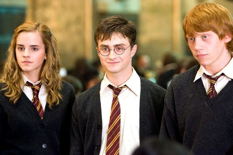 harry potter hermione, harry and ron