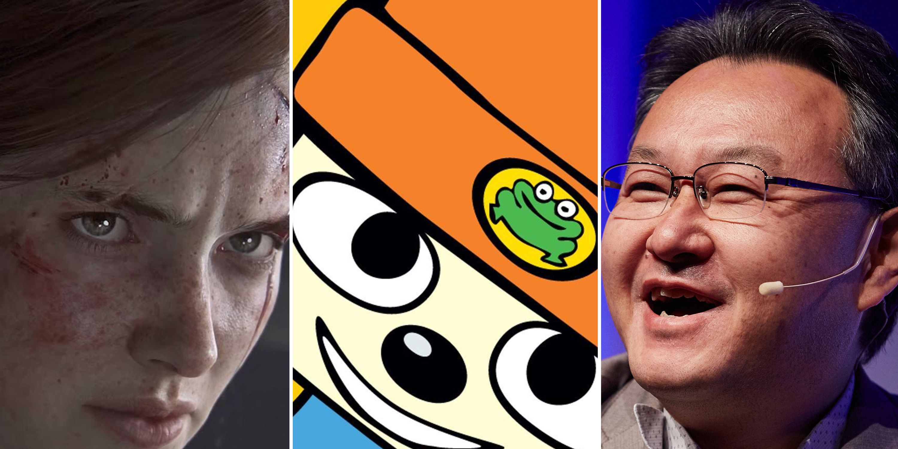 Last of Us Part II, Parappa the Rapper and Sony Worldwide Studios boss Shuhei Yoshida at PSX