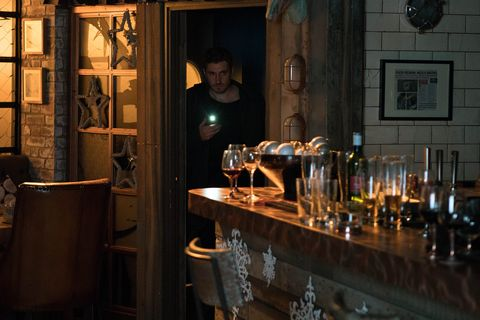 Andy Carver steals from the Bistro in Coronation Street