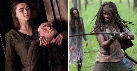 Anya Stark, Game of Thrones, Michonne, The Walking Dead