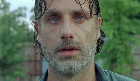Rick Grimes in 'The Walking Dead' s07e08, 'Hearts Still Beating'