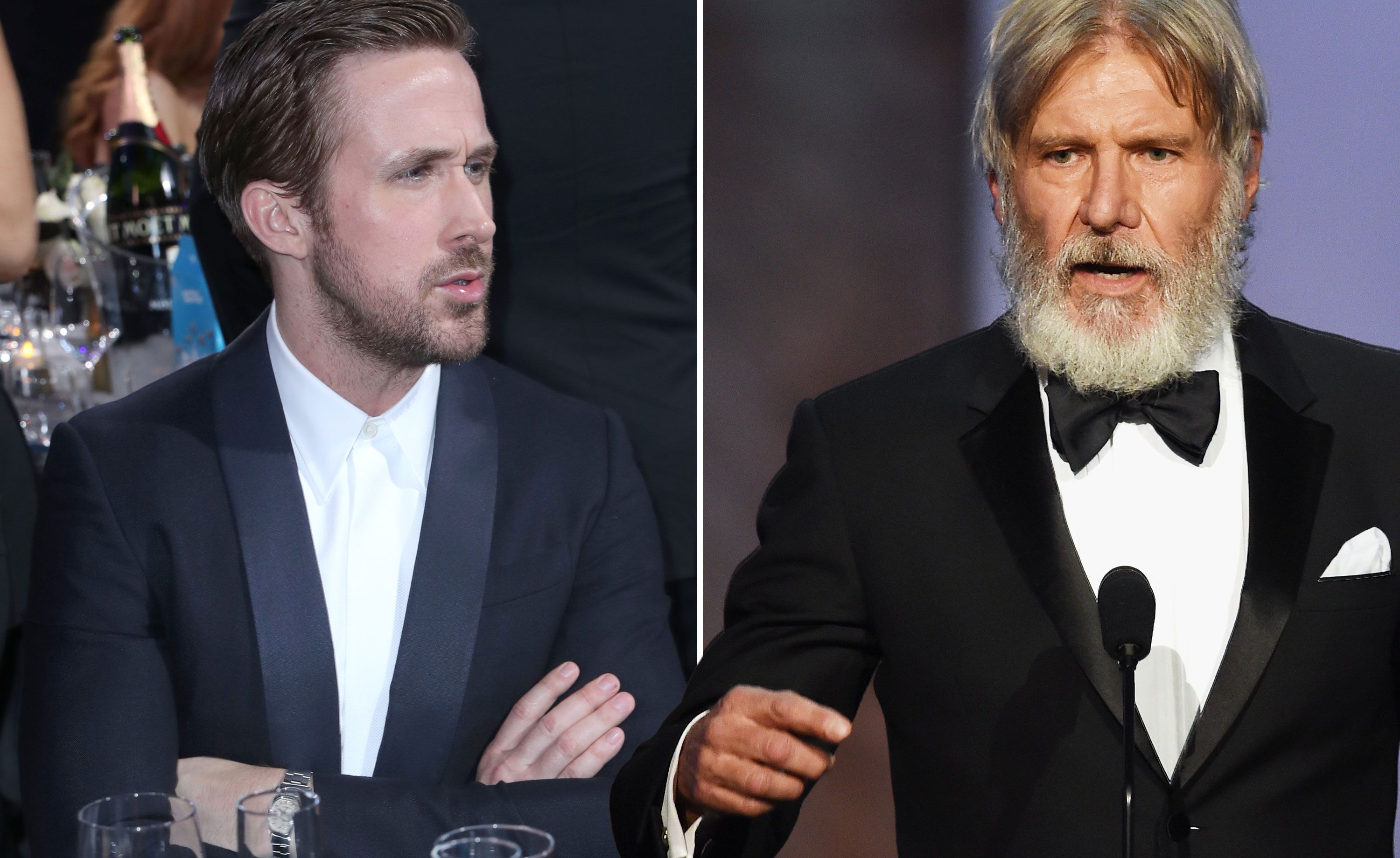 Harrison Ford punched Ryan Gosling in the face and was mostly