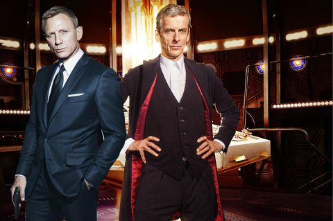Daniel Craig's James Bond and Peter Capaldi's The Doctor photoshop