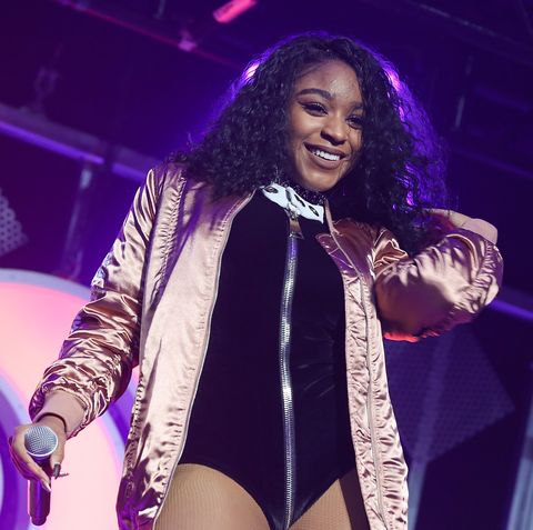 Normani Kordei of Fifth Harmony performs at Hot 99.5's Jingle Ball 2016