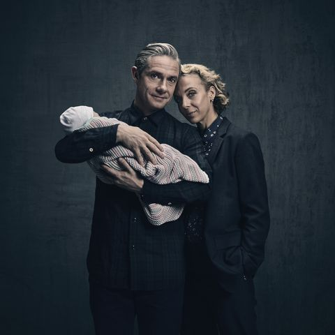 Dr. John Watson (Martin Freeman) and his wife Mary (Amanda Abbington)