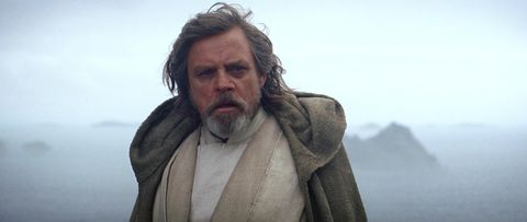 Luke Skywalker at end of The Force Awakens