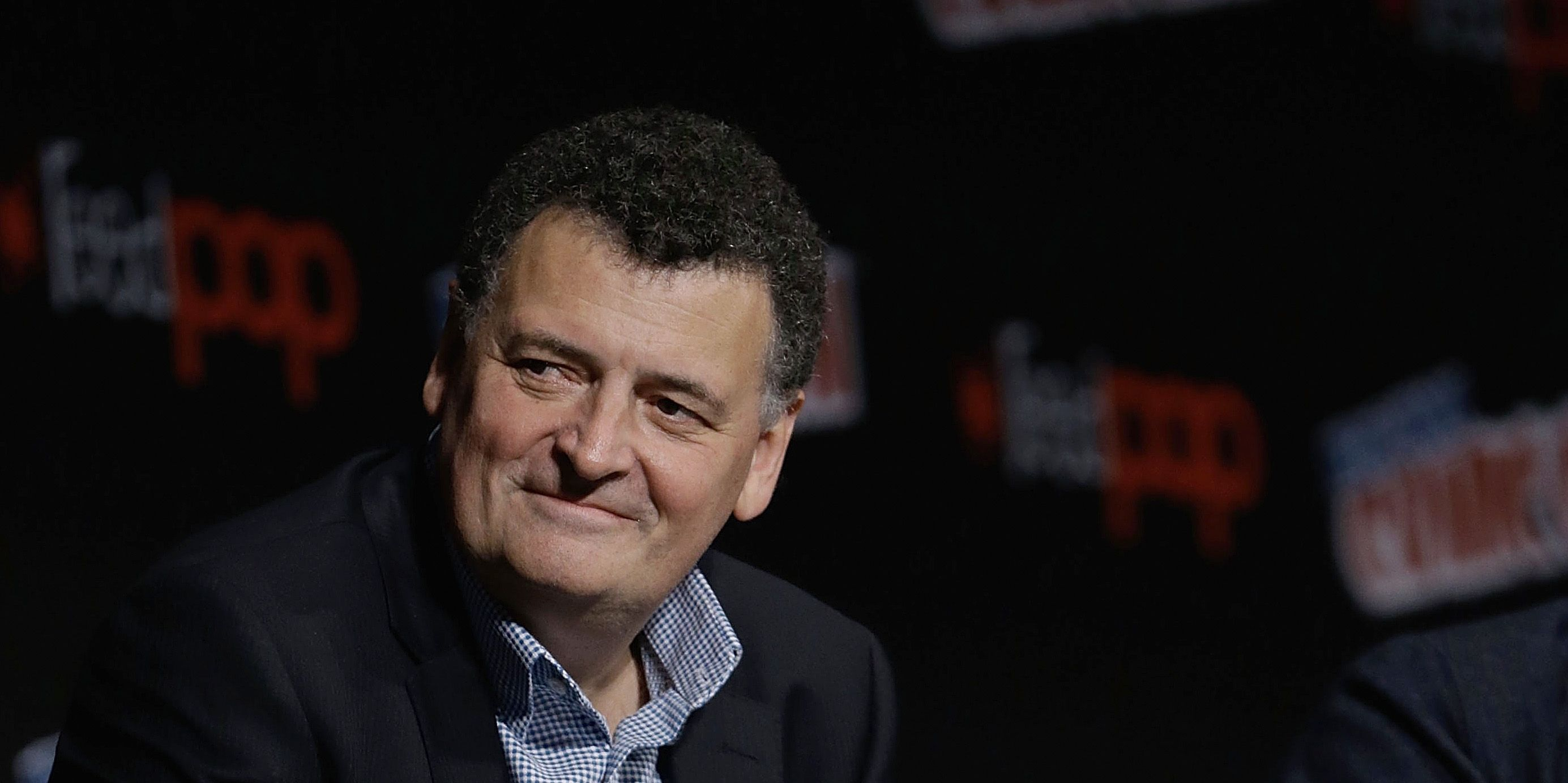 Steven Moffat attends the Doctor Who panel during the 2016 New York Comic Con