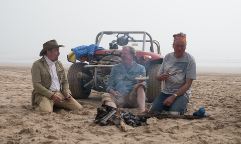 The Grand Tour's Jeremy Clarkson, Richard Hammond, James May in Namibia