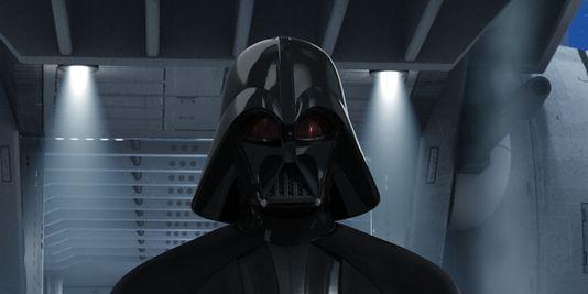 Anakin Skywalker in all his black robot glory.