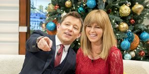Ben Shepherd and Kate Garraway, Good Morning Britain, happy, 2016-12-23