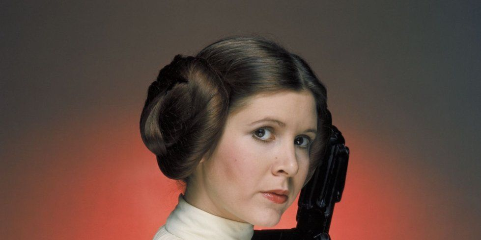 Carrie Fisher as Princess Leia in Star Wars: A New Hope (1977)