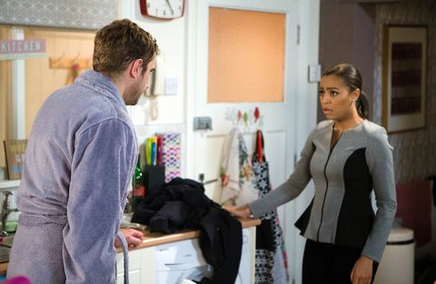 EMBARGO 10/1 Andy tells Steph the truth in Coronation Street