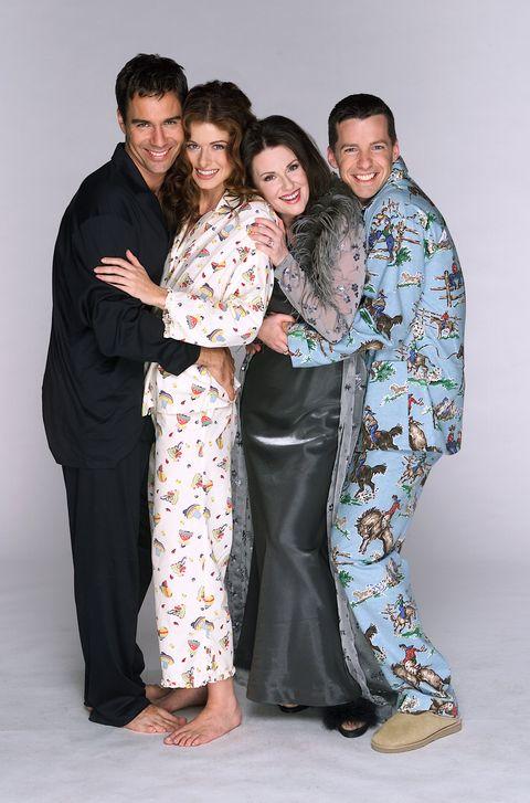Will & Grace: Megan Mullally as Karen Walker, Sean Hayes as Jack McFarland, Debra Messing as Grace Adler, Eric McCormack as Will Truman