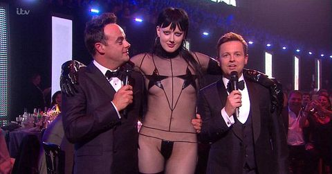 <p>Ant and Dec were left red-faced when this lady crashed the stage at the Brits&nbsp;2016.</p>