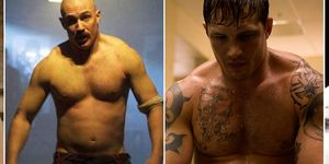 Tom Hardy, body transformations, Band of Brothers, Bronson, Warrior, Bane in Batman
