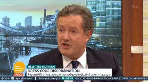 b6df994b22f Good Morning Britain viewers outraged after  sexist  Piers Morgan says women  should wear heels to work