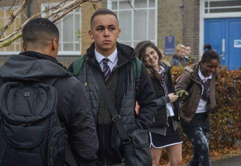 Shakil Kazemi finds himself in trouble in school in EastEnders