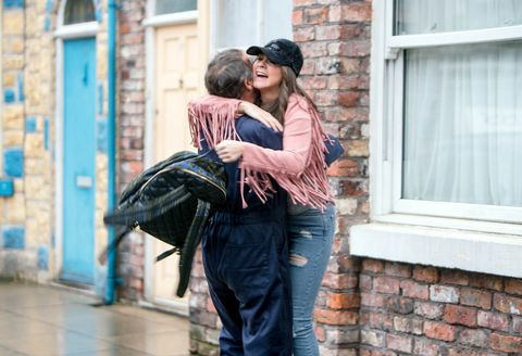 Kevin Webster welcomes Sophie Webster back to Coronation Street