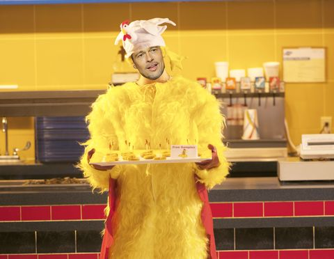 Brad Pitt, Chicken suit