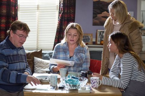 Jane Beale is unimpressed by her Valentines Day present from Ian in EastEnders