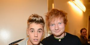 Justin Bieber and Ed Sheeran attend backstage at Z100's Jingle Ball 2012, presented by Aeropostale, at Madison Square Garden on December 7, 2012 in New York City. (Photo by Kevin Mazur/Getty Images for Jingle Ball 2012)