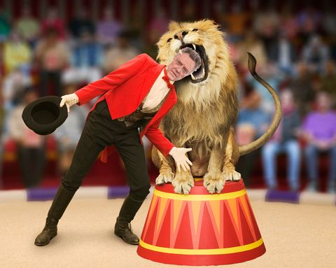 Christopher Walken, lion tamer