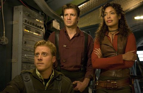 Wash, Mal and Zoe in Firefly