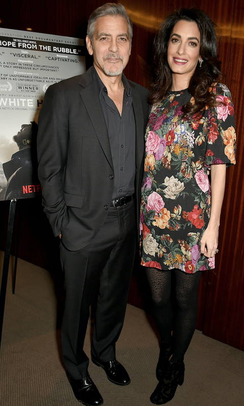 George and Amal Clooney attend the Netflix special screening and reception of The White Helmets