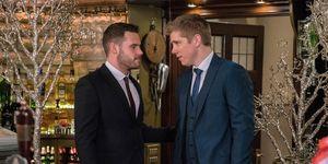 Aaron Dingle and Robert Sugden's wedding day in Emmerdale