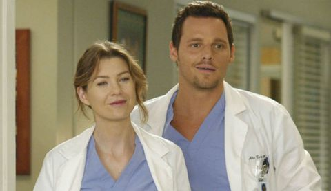 Alex and Meredith in Grey's Anatomy