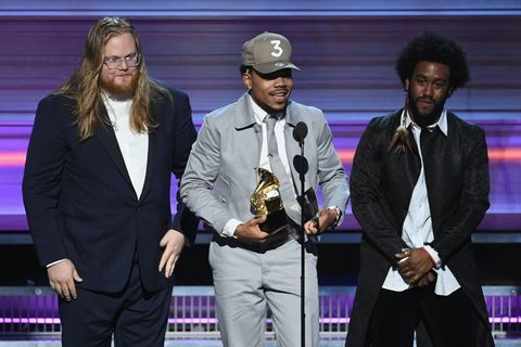 Chance the Rapper at Grammys 2017