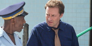 Ardal O'Hanlon and Danny John-Jules in Death in Paradise