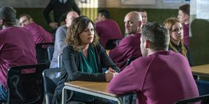Chas Dingle visits Aaron in prison in Emmerdale