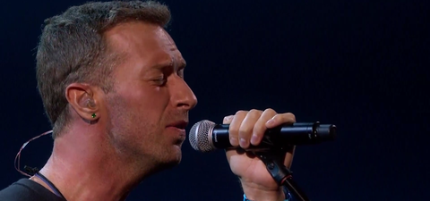 Chris Martin duets with the late George Michael in a magical
