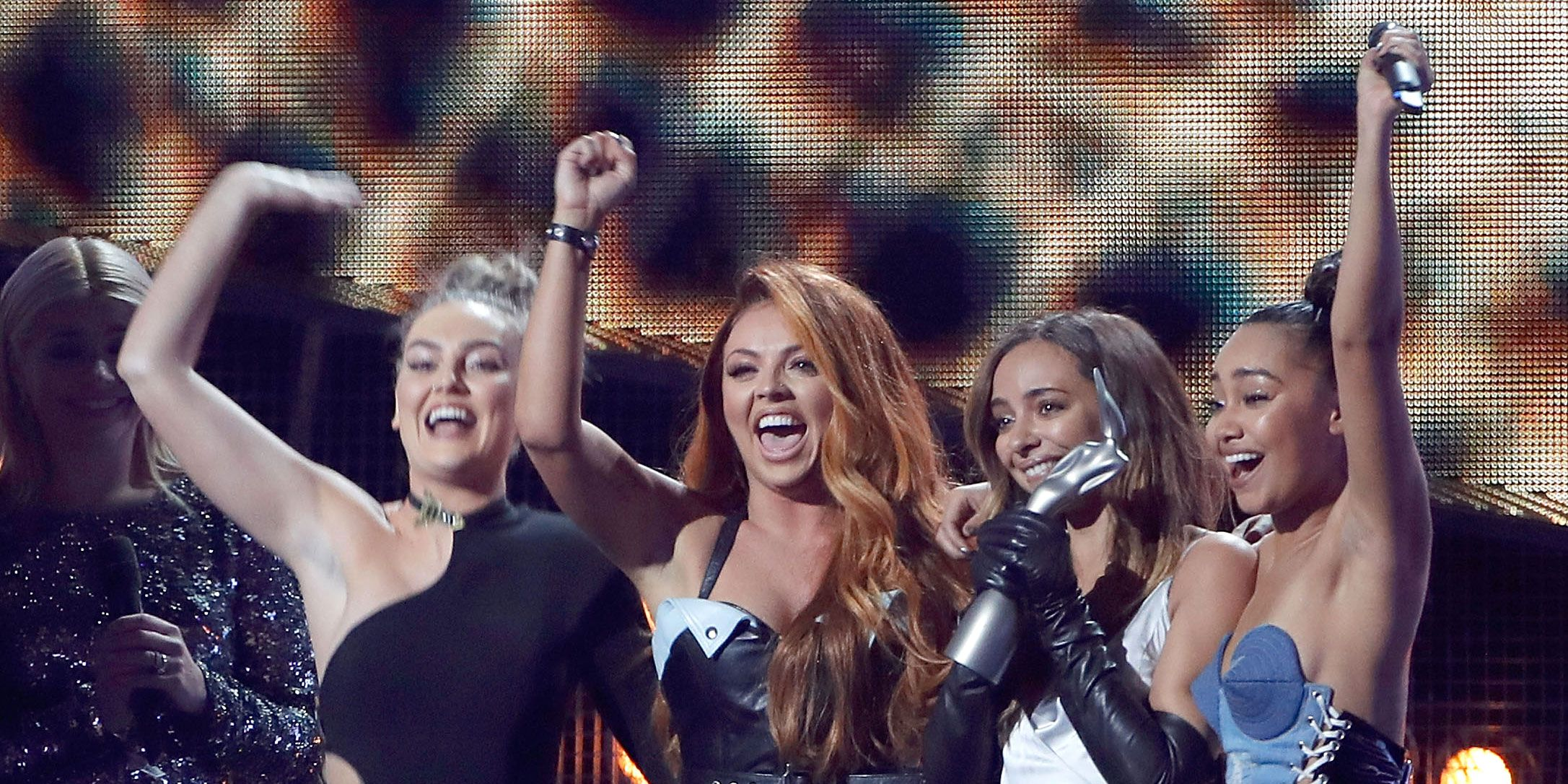 Little Mix collect their Brit Award